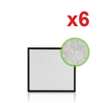 Alen Breathsmart HEPA-Silver Carbon Replacement Filter BF35SC x6